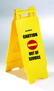 out_of_service_free_standing_yellow_plastic_warning_sign
