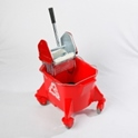 smoothline_kentucky_mop_bucket_with_medium_size_heavy_duty_steel_geared_cm1220_wringer_red