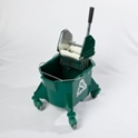 smoothline_kentucky_mop_bucket_with_medium_size_heavy_duty_steel_geared_cm1220_wringer_green