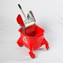 smoothline_kentucky_mop_bucket_with_large_heavy_duty_steel_geared_cm1624_wringer_red
