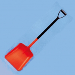 Orange Plastic lightweight hygiene shovel, suitable for food, grain, dry store goods