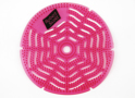 Image of single, bold pink gel urinal mat perfumed Apple and Cinnamon supplied by Dynamic Chemicals